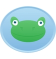 Frog head Button badge vector image vector image