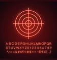 gun target neon light icon vector image vector image