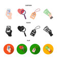 hand mobile phone online store and other vector image vector image