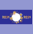 happy new 2021 year design template with circle vector image vector image
