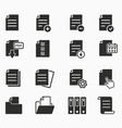 icons set - paper documents file format vector image vector image