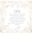 Invitation card of cactus in pots vector image