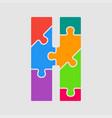 jigsaw color shape puzzle piece letter - h vector image vector image