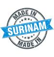 made in Surinam blue round vintage stamp vector image vector image