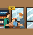 man shopping at the grocery vector image