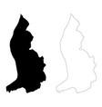 map liechtenstein isolated vector image vector image