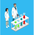 medical workers in laboratory vector image vector image