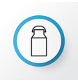 milk can icon symbol premium quality isolated jug vector image vector image