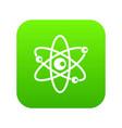 molecules of atom icon digital green vector image vector image
