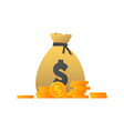 money bag cartoon dollar icon vector image