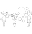 outline girls vector image vector image