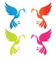 phoenix color vector image vector image