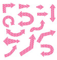pink arrows vector image