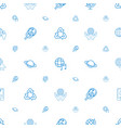 planet icons pattern seamless white background vector image vector image