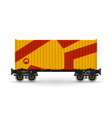 Platform with Orange Container Isolated on White vector image vector image