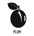 plum icon simple style vector image