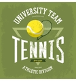 Rack with tennis ball for t-shirt logo vector image vector image