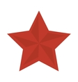 red star shape vector image