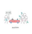 Sale of automobiles vector image