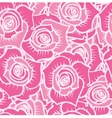Seamless pattern of pink roses with white lines vector image