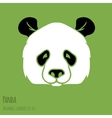 set panda silhouettes vector image vector image