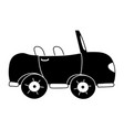 silhouette sport car to tranport vehicle vector image