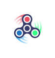 spinner icon simple style vector image vector image