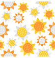sunflower seamless pattern for wallpaper or vector image