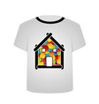 T Shirt Template- Home sweet home vector image vector image