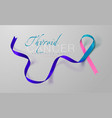 thyroid cancer awareness calligraphy poster vector image vector image