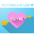 valentines day template vector image vector image