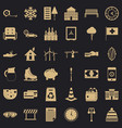 villa for rest icons set simple style vector image vector image