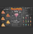 vintage chalk drawing halloween menu design vector image vector image