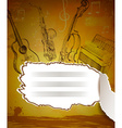 Vintage Musical Notebook vector image