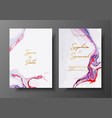 wedding template with liquid marble texture vector image vector image