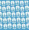 white flowers on a blue background vector image vector image
