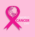 world cancer day concept february 4 vector image vector image