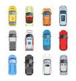 set of car top view set vector image