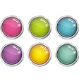 glassy color buttons vector image