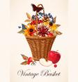 a basket vector image