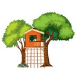 a tree house isolated vector image
