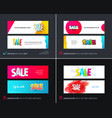 abstract set of modern horizontal website vector image