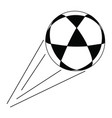 abstract soccer object vector image vector image