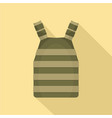 army vest icon flat style vector image