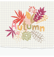 autumn notepaper