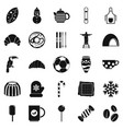 bar icons set simple style vector image vector image