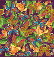 beautiful pattern with butterflies and roses vector image vector image