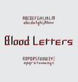 blood letters font vector image vector image