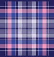 blue pink check plaid pixel seamless pattern vector image vector image