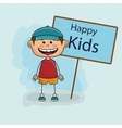 Boy kids happy poster